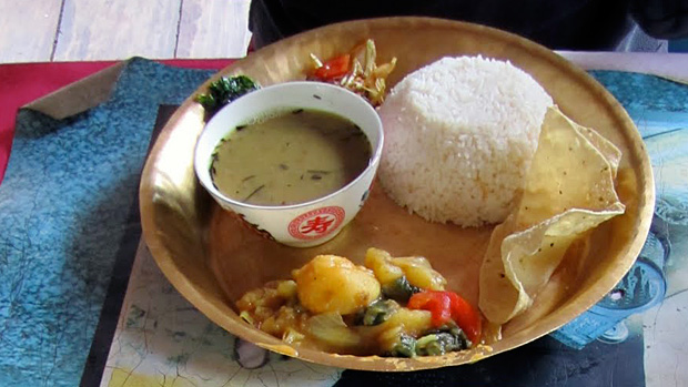 Trekking lodge food - Daal Bhaat