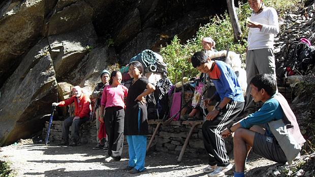 On Everest Base Camp trek