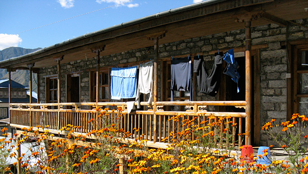 Trekking lodge on Everest base camp trek