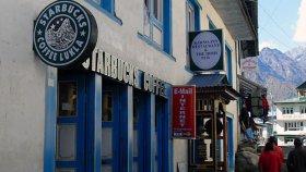 Starbucks Coffee in Lukla