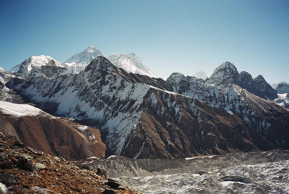 View to Everest from Gokyo Ri