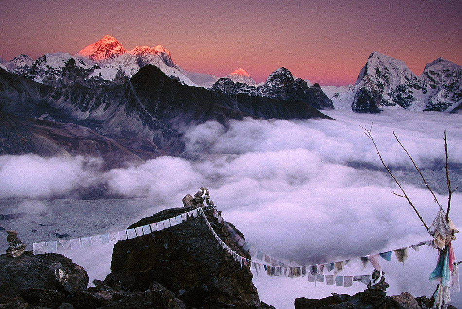 Sunset on Everest from Taweche