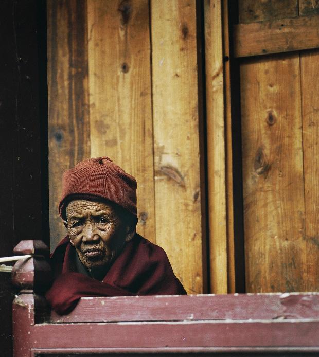 Buddhist woman in Mani Rimdu festival Tengboche