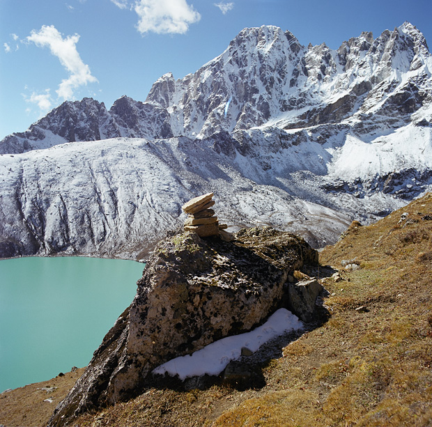 View to 3d Lake from Gokyo Ri