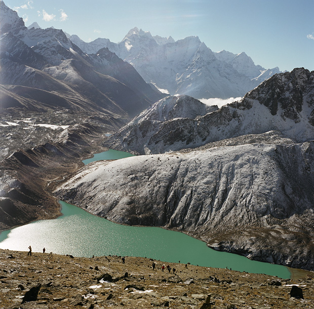 View to 2d and 3d Lake from Gokyo Ri