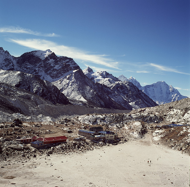 View over Gorak Shep from Kala Patthar