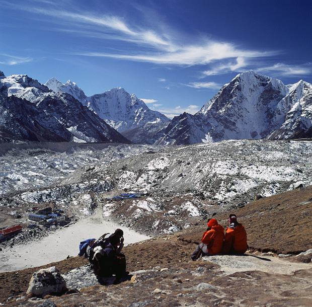 View over Khumbu Icefall from Kala Patthar